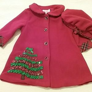 Adorable holiday dress coat and hat